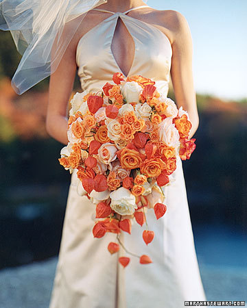 orange flowers for a wedding